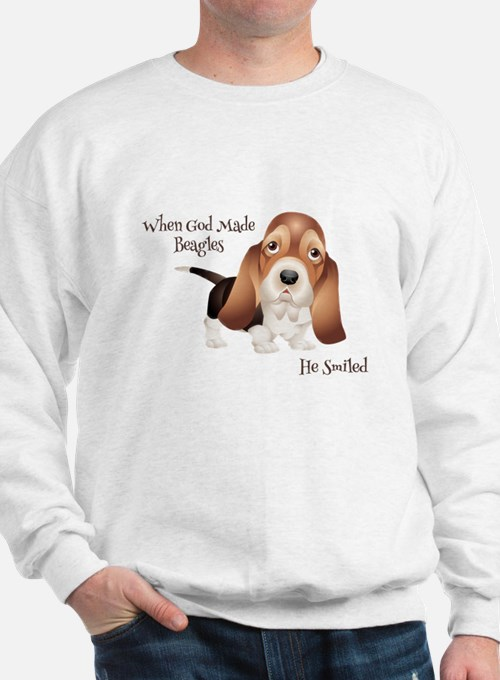 When God Made Beagles Sweatshirt
