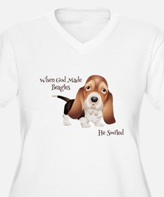 When God Made Beagles Plus Size T-Shirt