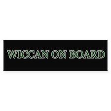 Wiccan on Board Bumper Bumper Sticker