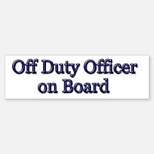 Off Duty Officer on Board Bumper Bumper Bumper Sticker