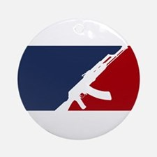 AK 47 league Round Ornament