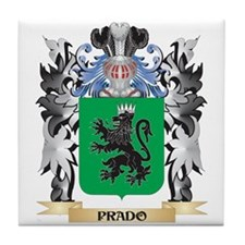 Prado Coat of Arms - Family Crest Tile Coaster