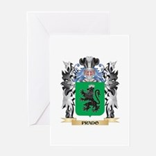 Prado Coat of Arms - Family Crest Greeting Cards