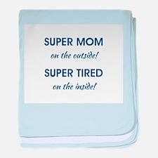 SUPER MOM baby blanket