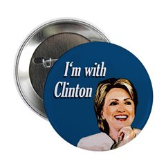 Ten I'm With Clinton buttons