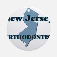 New Jersey Orthodontist Round Ornament