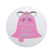 Navy Bride Wedding Bells 2007 Ornament (Round)