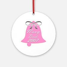 Navy Bride Wedding Bells 2007 Ornament (Round)