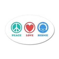 Peace Love Bernie Icons Wall Decal