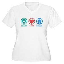 Peace Love Bernie Icons Plus Size T-Shirt