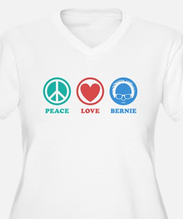 Peace Love Bernie Icons Plus Size T-Shirt