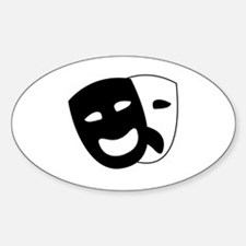 Theater masks Sticker (Oval)