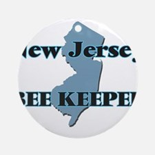 New Jersey Bee Keeper Round Ornament