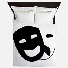 Theater masks Queen Duvet