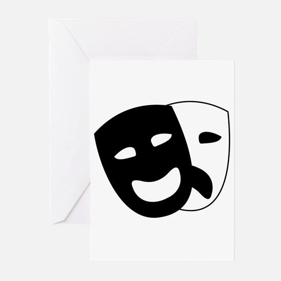 Theater masks Greeting Cards