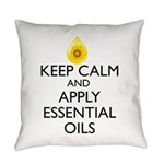 Keep Calm and Apply Essential Oils Everyday Pillow