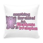 Irrelephant Elephant Everyday Pillow