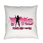 PMS You've Been Warned Everyday Pillow