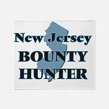 New Jersey Bounty Hunter Throw Blanket