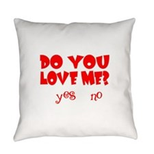 DOYOULOVEMEWHITE.png Everyday Pillow