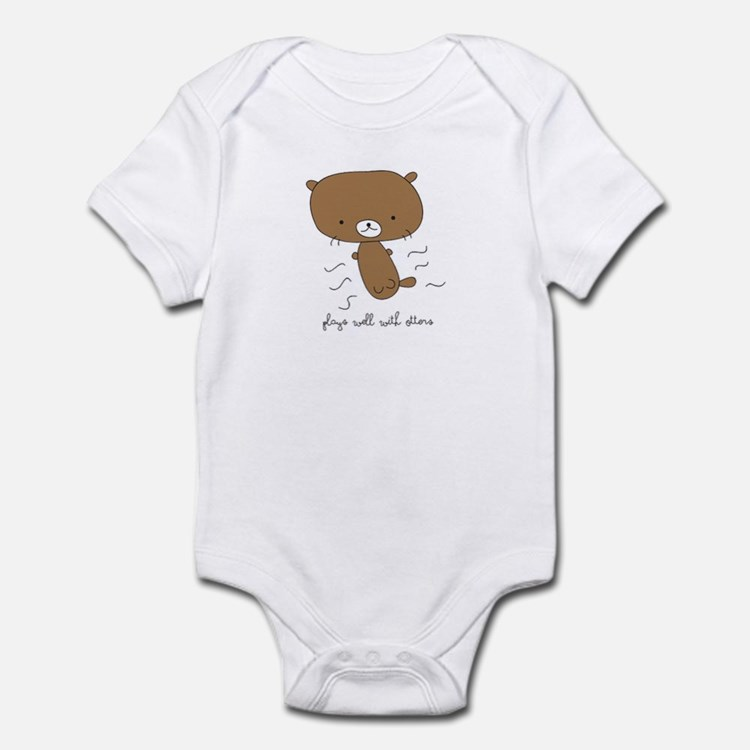Plays Well With Otters Infant Body Suit