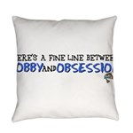 Fish Obsession Everyday Pillow