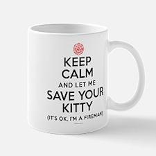 Keep Calm Save Kitty Mugs