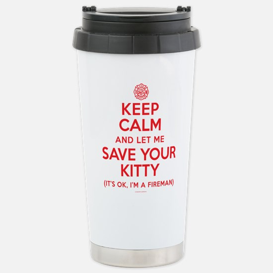 Keep Calm Save Kitty Stainless Steel Travel Mug