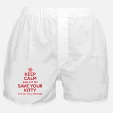 Keep Calm Save Kitty Boxer Shorts