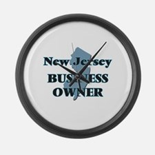 New Jersey Business Owner Large Wall Clock