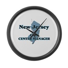 New Jersey Call Center Manager Large Wall Clock