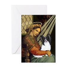 Madonna & Papillon Greeting Card