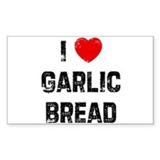 I * Garlic Bread Rectangle Decal
