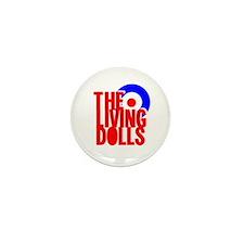 White Mod Target Mini Button (10 pack)