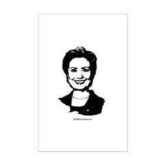 Hillary Clinton Face Posters