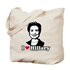 I Love Hillary Tote Bag