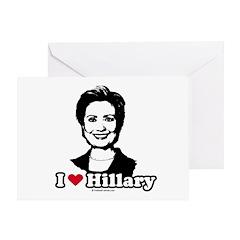 I Love Hillary Greeting Card