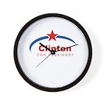 Clinton for President Wall Clock