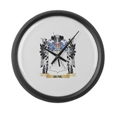 Quail Coat of Arms - Family Crest Large Wall Clock