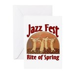 Jazz Fest Rite of Spring Greeting Cards (Package o