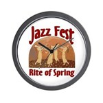Jazz Fest Rite of Spring Wall Clock