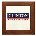 Clinton for President Framed Tile