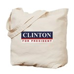 Clinton for President Tote Bag