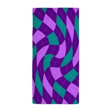 Purple Argyle Beach Towel
