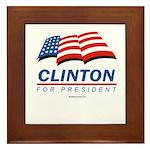 Clinton for President Framed Tile