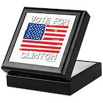 Vote for Clinton Keepsake Box