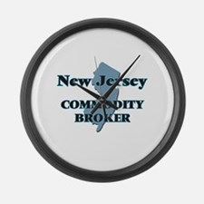 New Jersey Commodity Broker Large Wall Clock