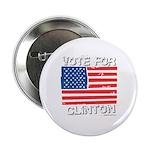 Vote for Clinton Button