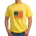 Vote for Clinton Yellow T-Shirt