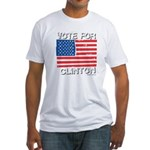 Vote for Clinton Fitted T-Shirt